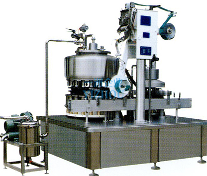 Automatic filling and aluminum sealing machine