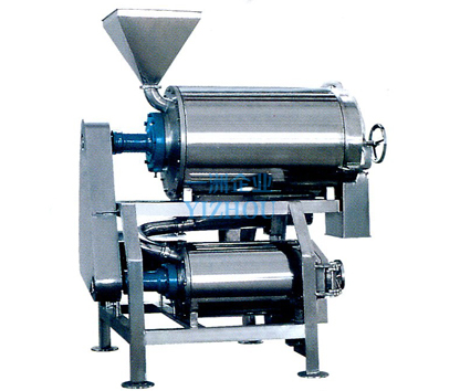 Double-channel pulping machine